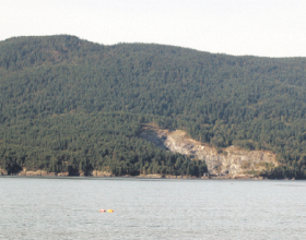The southeast flank of Lummi Mountain, shown here, is part of the land acquired by the Lummi Island Heritage Trust. (Courtesy photo/ Lummi Island Heritage Trust)