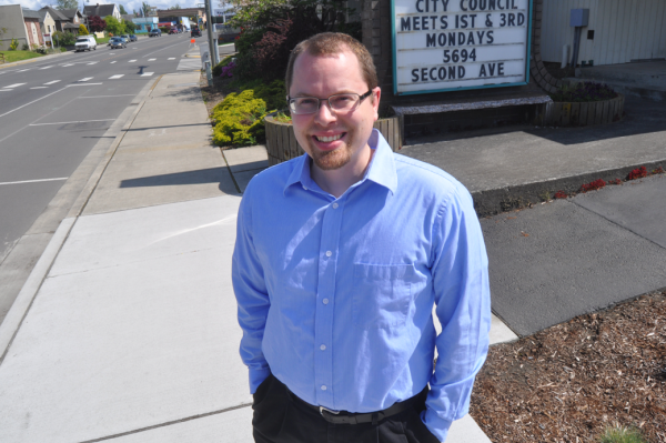Sam Taylor has become known as an advocate for transparency, answering hundreds of inquiries on local Web communities over the last few years. (Mark Reimers/Ferndale Record)