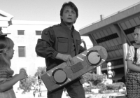 back to the future 2 still marty mcfly with hoverboard